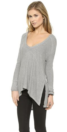 Free People Drippy Thermal Sunset Park Top   SHOPBOP