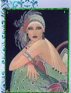 Green art deco lady