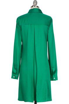 The Modern Shirtdress - Emerald
