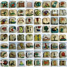 QuipImaage--Dad has drawn an illustration on his kid's lunch bag every day since 2008--that is over 1,100 lunch bags!!!