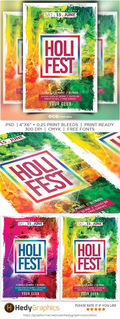 #Holi Festival Flyer Festival Flyer, Festival Posters, Holi Poster, Holi Party, Halloween Flyer, Flyer Design Inspiration, Free Flyer Templates, Indian Party, Happy Holi
