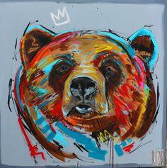 #nie budzić #wojciechbrewka #malarstwo #sztuka #oilpainting #king #animals