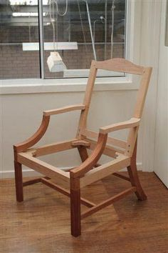 Gainsborough or library chair, frame Upcycled Furniture, Furniture Making, Diy Furniture, Furniture Design, Steel Furniture, Furniture Upholstery, Wooden Office Chair, Georgian Furniture, Woodworking Inspiration