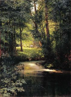 Myasoyedov Gregory (Russian, 1834-1911) - Forest Stream. Spring