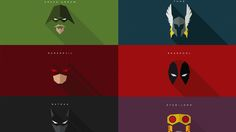 Minimalist Superhero Masks For Batman, Daredevil, Deadpool, and More — GeekTyrant