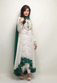 Latest Evening Wear By Sanz Creation For Women Pakistani Outfits, Indian Outfits, Pakistani Clothing, Modest Fashion, Girl Fashion, Desi Clothes, Nice Clothes, Indian Clothes, Desi Wear