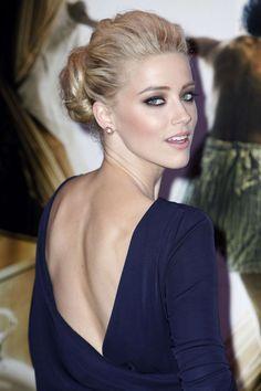 Splendid paragon of beauty Amber Heard Snazzy Styles. Cute Hairstyles Long, Cute Wedding Hairstyles, Celebrity Hairstyles, Amber Heard Cabelo, Amber Heard Hair, Glamour, Beauté Blonde, Smoky Eye Makeup, Smokey Eye