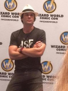 Ian Somerhalder at Wizard World TVD  Chicago on Saturday,  August 22, 2015