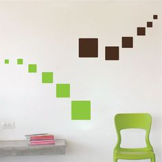 Square Wall Decals Square Wall Stickers Square Wall by PrimeDecal Bedroom Wall Designs, Bedroom False Ceiling Design, Wall Mural Decals, Wall Stickers, Wall Painting Decor, Kids Room Paint, Home Decor Furniture, Paint Designs, Room Decor