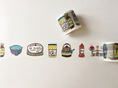 Cute Kitchen Items Washi Tape by PapergeekCo on Etsy