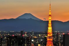 Mt.Fuji from downtown Tokyo.