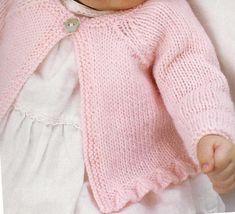 cardigan rosa con bordo - Accessories of Women Cardigan Rosa, Cardigan Bebe, Knitted Baby Cardigan, Pink Cardigan, Cardigan Pattern, Sweaters Knitted, Pink Sweater, Baby Knitting Patterns, Knitting For Kids