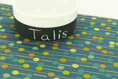 """Pet Placemat, Choose Your Size, Waterproof, Non Slip Mat, Dog Placemat, Cat Litter Mat, Splat Mat, Cat Food Mat, Durable Mat, Blue Dots  No Mess Mat Waterproof, Stain/Odor/Bacteria/Mold Resistant, Non-Slip, Durable  These mats are true lifesavers for families with pets or children. Place them on anything you want to protect from pet hair, spills, stains, and accidents. ♦ Small: 12 x 18""""  Suggested uses: ♦ Pet food mat ♦ Cat litter box mat ♦ Non skid mat for pets on slippery flo..."""