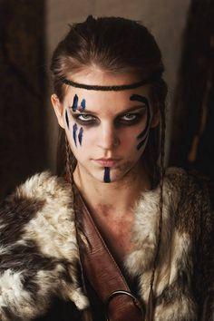 Female Viking Warriors - Viking Maidens viking warrior vikings champions norse winter is coming Celtic Warriors, New Warriors, Female Warriors, Amazon Warriors, Krieger Make-up, Viking Makeup, Warrior Makeup, Vikings, Tribal Makeup