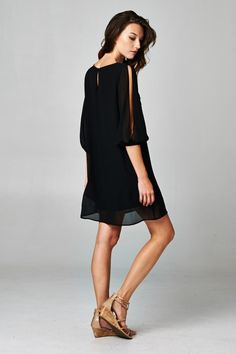 Makayla Dress | Women's Clothes, Casual Dresses, Fashion Earrings & Accessories | Emma Stine Limited