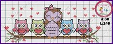 Cross Stitch Owl, Cross Stitch Animals, Cross Stitching, Cross Stitch Embroidery, Cross Stitch Patterns, Melty Bead Patterns, Owl Patterns, Crochet Diagram, Sites