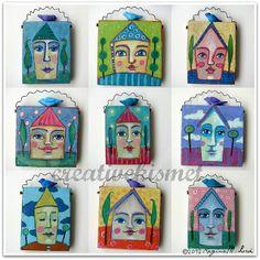 happy homes mixed media art by Regina (creative kismet)