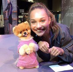 Maddie with Jiff Pom
