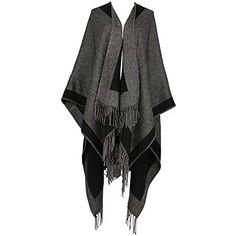 Discoball Femme Tassel Poncho Châle en tricot Wrap Cape Hiver Écharpe  Couverture grande taille  châlesdeméditation 1de6fb87c318