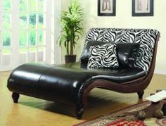Make a statement with this Animal-Print Chaise  550061