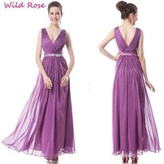 Ever Pretty New Chiffon V-neck Purple Gown Evening Party Formal Dress 09901 Dresses Uk, Ball Dresses, Prom Dresses, Formal Dresses, Wedding Dresses, Purple Gowns, Purple Dress, Color Lila, Ever Pretty