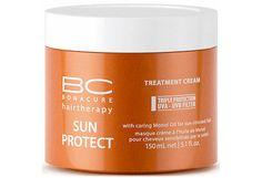 Schwarzkopf BC Sun Protect Treatment Cream oz / 150 ml sun-stressed hair Schwarzkopf Osis, Hair Volume Spray, Frozen Hair, Hair Lotion, Argan Oil Hair, Hair Gel, Hair Repair, Vitamin E, Hair