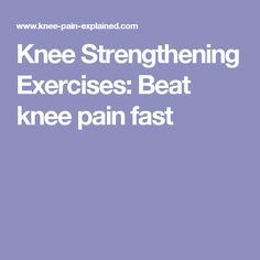 Knee Strengthening E