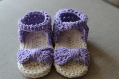 Crocheted baby sandals baby flip flops baby shoes by MadebyMeganM