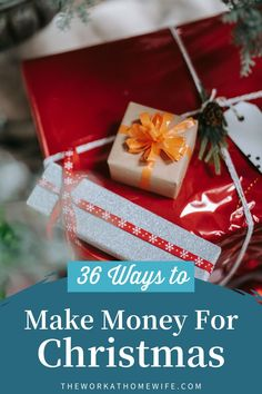 36 Ways to Make Money for Christmas | Check out these great ways to make some extra money this holiday! | The Work at Home Wife