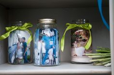 I was asked/ told to post pictures from our wedding so here you go... Pictures in mason jars