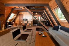 inspiration Interior Wood chalet A frame homewood curtispop