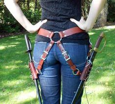 Dual sword hip harness. Could it be modified for Amtgard swords?