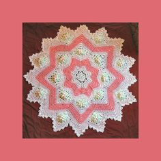 Ravelry: Dogwood Blossom 8 to 16 Point Round Ripple Paid pattern by Monica Kennedy