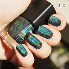 Nail Polish Women Nail Art Holographic Holo Glitter Polish Varnish Hologram