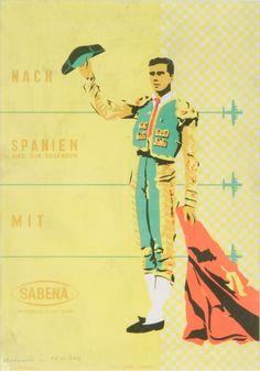 Sabena • Spain by Torero #travel #poster