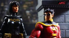 """""""-And we now need to... wait why aren't you wearing your mask?"""" Robin confounded by Cassandra's boldness. Custom Cassandra Cain head by HKC."""