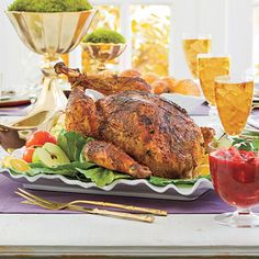 Thanksgiving Recipes: Roasted Dry-Rub Turkey with Gravy - Thanksgiving Main Dish Recipes - Southern Living