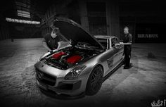 Mercedes SLS BRABUS 700 Twin-Turbo   photograph by A.ALTHANI