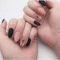 Discover cute and easy nail art designs for all occasions. Find inspiration for Easter, Halloween and Christmas and create your next nail art design. Black Nail Designs, Cool Nail Designs, Black Nails, Matte Nails, Cute Acrylic Nails, Fun Nails, Nail Manicure, Nail Polish, Gel Nail