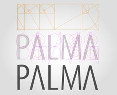 Palmas para esse grid! Palmas = Applause. To this grid. Why it doesn't work: Apart from the P, there simply isn't ANY ROUNDED SHAPES IN THIS THING. IT'S MYRIAD CONDENSED, NO REASON TO GRID IT UP!