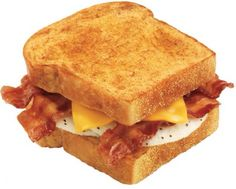 Fried Egg Bacon and Cheese Sandwich for breakfast