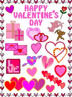 #{Freebie}  #Valentine's Day #Clip Art: 25 images.  Perfect for February crafting!