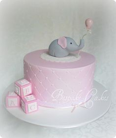 I was thinking more for a christening cake...  baby shower cake by Bespoke Cakes, via Flickr