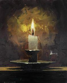 "Craig Stephens, ""Candle 6x8."