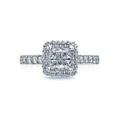 "Tacori ""Blooming Beauties"" Double Diamond Bloom Engagement Ring Setting"