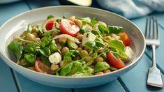 Chopped Salad With Chicken, Salami, and Mozzarella Recipe - Everyday Health Salad Recipes, Healthy Recipes, Mozzarella Salad, American Diet, Chopped Salad, Feta, Stop Eating, Chicken Salad, Potato Salad
