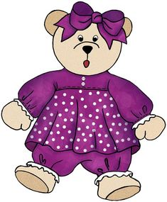 ArtbyJean - Paper Crafts: Dolls, toys, teddies, balloons from set - A-39 - Emerald green and purple.