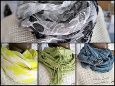 New scarves in the spring DIY by Iwakki
