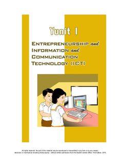 K TO 12 GRADE 4 LEARNER'S MATERIAL IN EPP (Q1-Q4) Information And Communications Technology, Mj, Entrepreneurship, Learning, Studying, Teaching