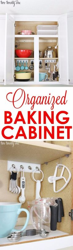 Best Organizing Ideas for the New Year - Organized Baking Cabinet - Resolutions for Getting Organized - DIY Organizing Projects for Home, Bedroom, Closet, Bath and Kitchen - Easy Ways to Organize Shoes, Clutter, Desk and Closets - DIY Projects and Crafts for Women and Men http://diyjoy.com/best-organizing-ideas #clutterhome